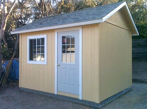 California Custom Sheds california custom sheds 12 x 10 peak 8 roof package