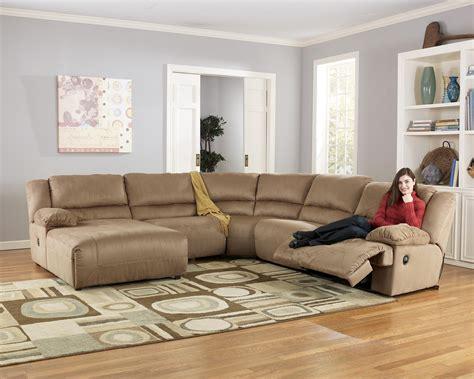 5 piece sectional sofa with chaise ashley signature design hogan mocha 5 piece motion