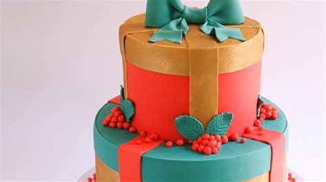 christmas gift box fondant cake instructions fondant gift cake