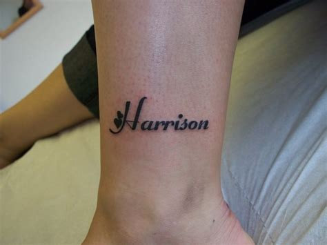 ankle tattoo designs with names name tattoos on ankle