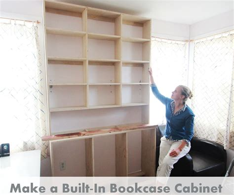 how to build a built in bookcase into a wall how to built in bookcases
