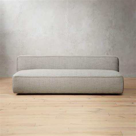 modern armless sofas cb2