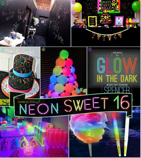 themes of house party neon glow in the dark sweet 16 party theme ideas