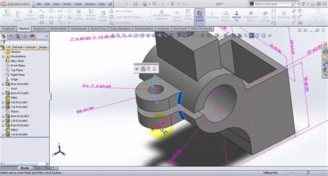 how to pattern a sketch in solid edge video tutorial on dimensioning 3d model in solidworks