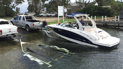 how to launch and retrieve a boat metung marine storage for boats caravans property