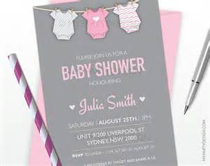 baby shower invitation pink bodysuit theme baby shower printable jpeg or pdf file by