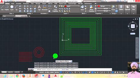 autocad tutorial offset command how to use offset command in autocad 22 youtube
