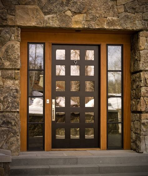 Black Exterior Door Hardware Bronze Hardware On Black Door Contemporary Entry Other Metro By Rocky Mountain Hardware