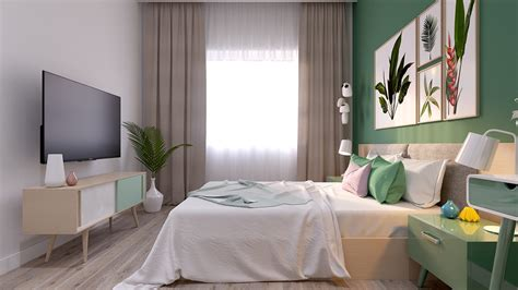 green day bedroom bright scandinavian decor in 3 small one bedroom apartments