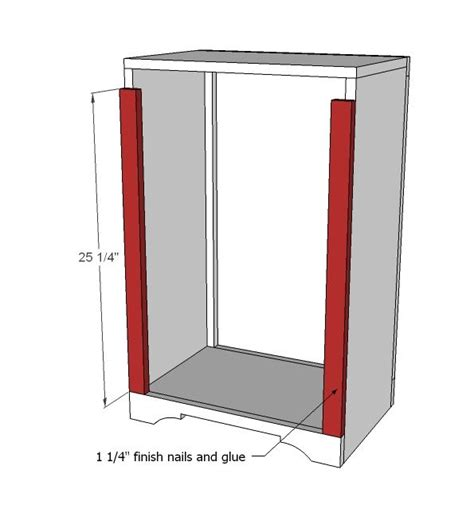 trash recycling bin cabinet wood white build a wood tilt out trash or recycling
