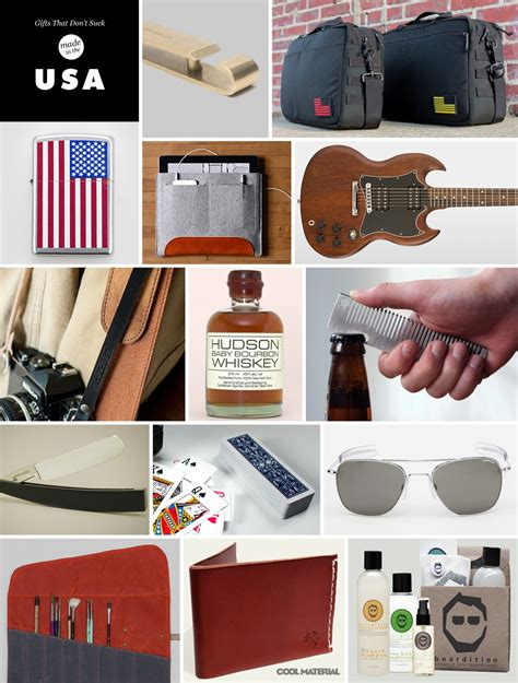 gifts for guys made in the usa cool material