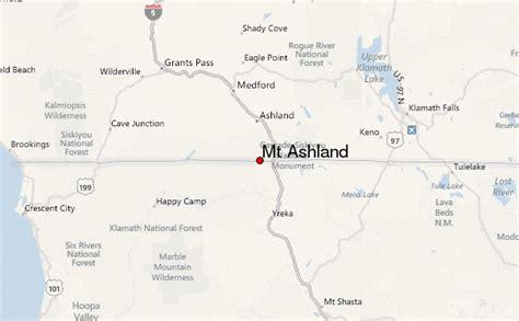 where is ashland oregon on a map mt ashland mountain information