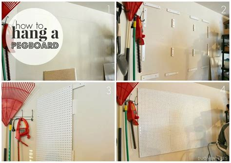 Duo Ventures How To Hang A Pegboard | how to hang a pegboard duo ventures for the home