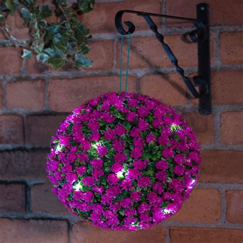 new 20 led 28cm solar flower rose topiary hanging garden