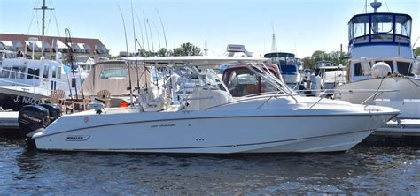 Center Console Cabin by 2007 Used Boston Whaler 320 Outrage Cuddy Cabin Center