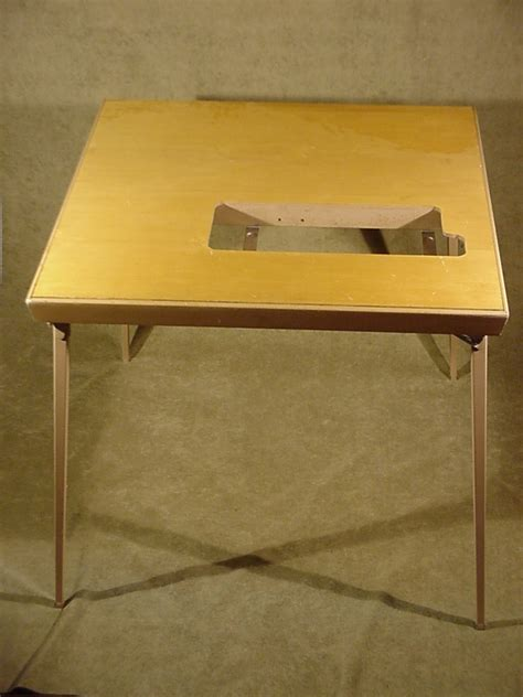 Folding Sewing Machine Table Vintage Singer Folding Sewing Machine Table For Mod 300 301 401 Condition Ebay