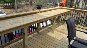 Deck Railing Bar Top by Custom Wood Bar Top Landscaping Wood Bars