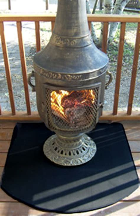 chiminea on porch chiminea chimenea deck protectors