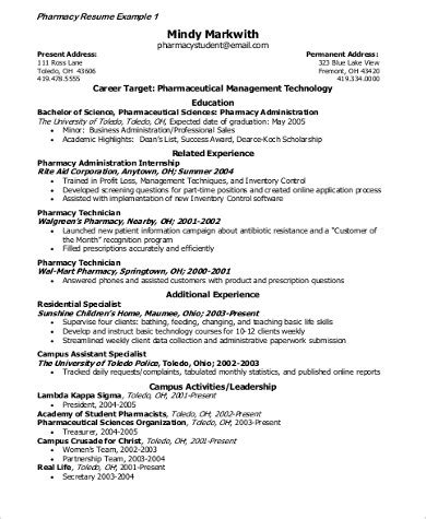simple resume sles pdf 7 sle pharmaceutical sales resumes sle templates