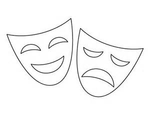 Theater Mask Outline by 17 Best Images About Stencils Templates Etc Crafts The O Jays And Mask Template