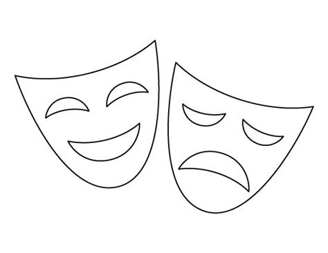 Drama Mask Template by 17 Best Images About Stencils Templates Etc Crafts The
