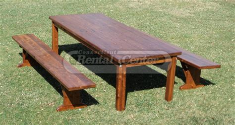 Farm Tables For Rent by Rent Farm Tables With Benches From Ct Rental Center