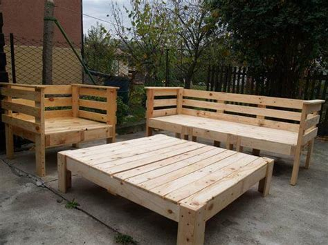 Wood Pallet Patio Furniture Pallet Outdoor Furniture Set 101 Pallets
