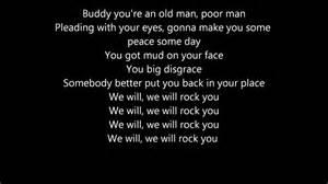 lyrics rock we will rock you lyrics