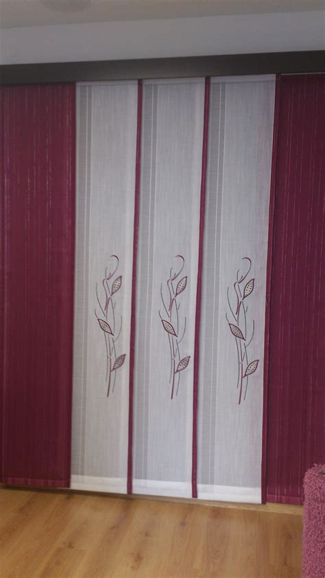 cortinas estilo japones paneles japoneses con todos berenjena proyectos que