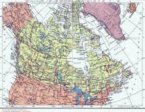 подробная политическая карта канады detailed political