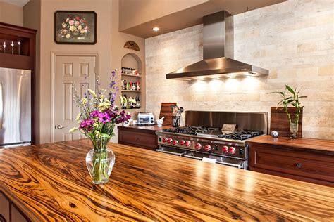 Kitchen Island Butcher Block Top by Zebrawood Wood Countertop Photo Gallery Devos Custom