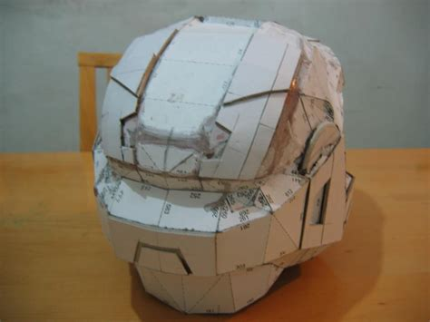 How To Make A Paper Halo Helmet - mlc halo armor