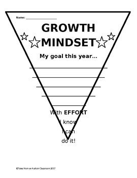 Growth Mindset Pennant By Tales From An Autism Classroom Tpt Growth Mindset Template