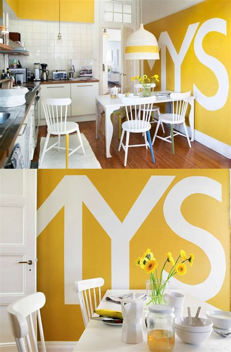 typography wall decor 51 yellow kitchen typography wall interior design ideas