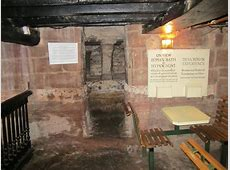 Entrance to the Hypocaust in the cellar... © Jeff Buck ... Cheshire