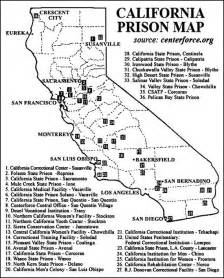 california state prisons map zcommunications 187 prison road