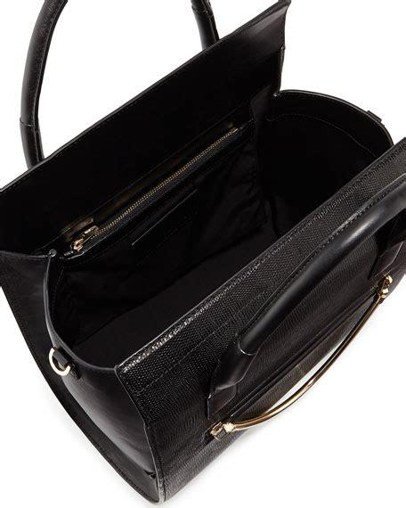 wang chastity embossed satchel bag black