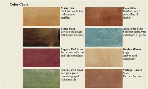 acid stain colors concrete stain colors see color chart chem