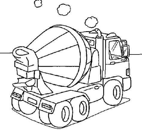 concrete mixer coloring page coloringcrew com