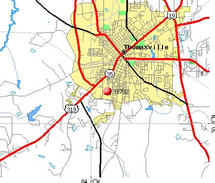 thomasville map 31792 zip code thomasville profile homes