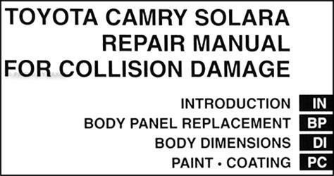 manual repair autos 2008 toyota camry solara on board diagnostic system toyota solara coupe body manual 2004 2005 2006 2007 2008 collision repair shop