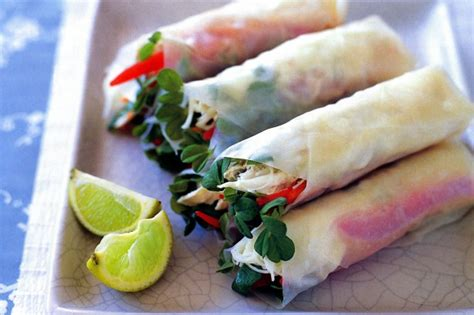 Rice Paper Rolls In Advance - chicken and wasabi rice paper rolls recipe taste au