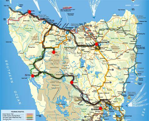printable road map of tasmania day 1 in tasmania launceston travel to australia