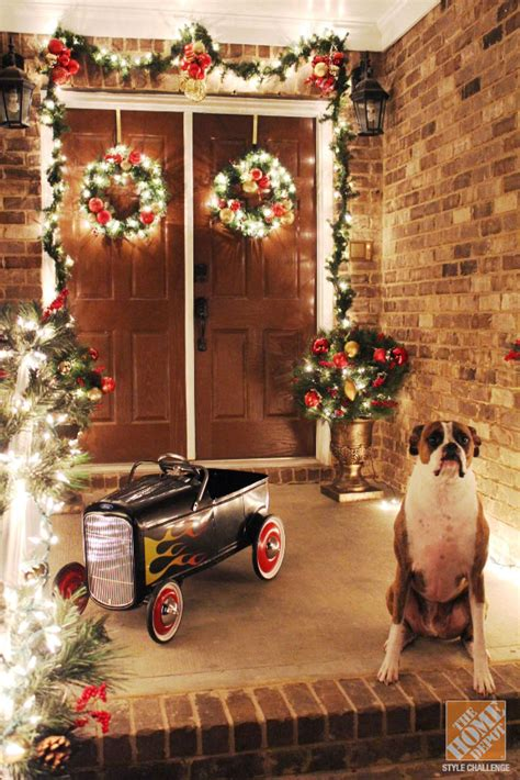 home depot ideas decoration front door decorations holiday ready in an afternoon