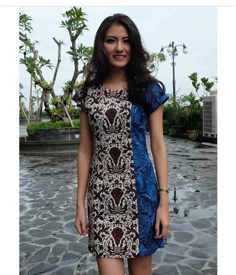 Dress New Kombinasi batik dress batik dress in 2018