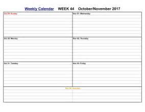 Calendar November 2017 Weekly November 2017 Calendar Printable Templates Calendar Office