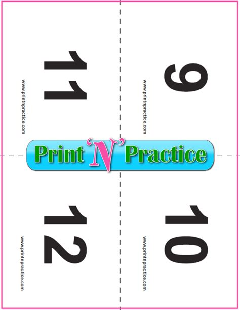 printable number recognition flash cards counting worksheets customize and print