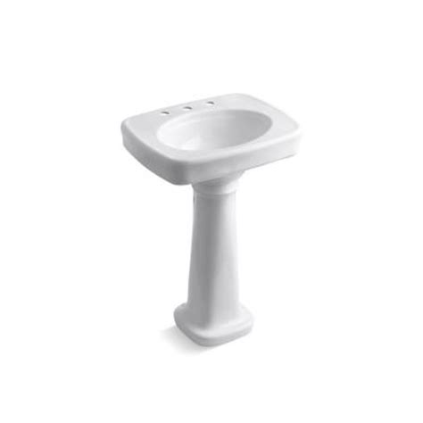 home depot kohler bathroom sink kohler bancroft vitreous china pedestal bathroom sink