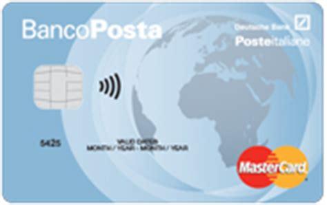 carta di credito banco posta carte credito bancoposta carta bancoposta classica