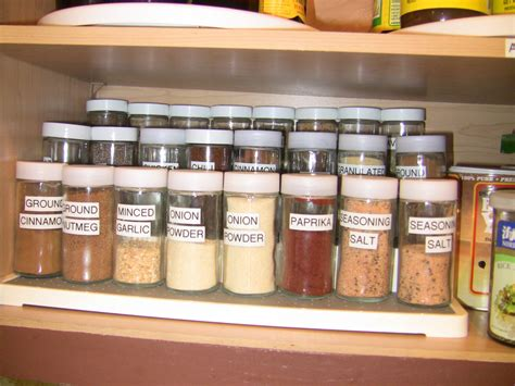 Spice Organizers For Kitchen Cabinets How I Organized The Spice Cabinet To Make It Easier To